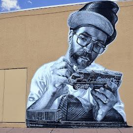 The Artist by Shawn Thomas - City,  Street & Park  Street Scenes