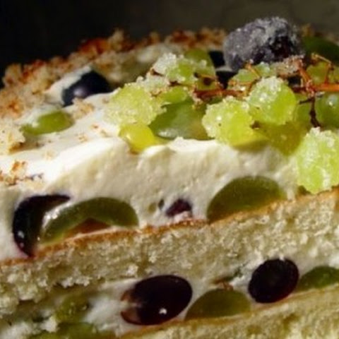 Viticulture And Refreshing Yoghurt Cake With Whipped Cream