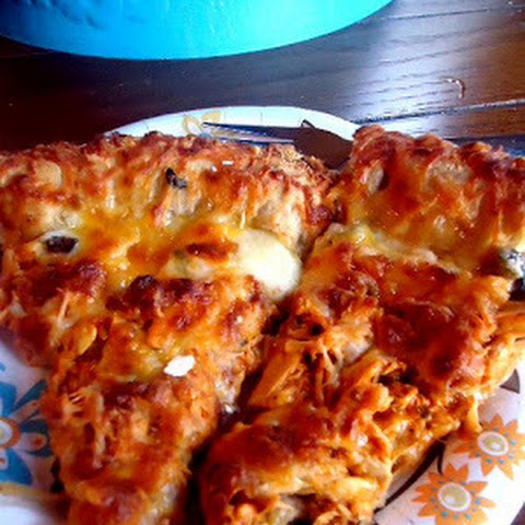 Buffalo Blue Cheese Chicken Pizza with Stuffed Crust