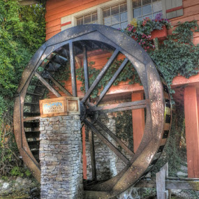 Water Mill by Briana Jones - Artistic Objects Other Objects