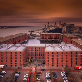 Albrt Dock, Liverpool by Krasimir Lazarov - City,  Street & Park  Markets & Shops ( mersey, england, liverpool, vista, cityscape, landscape, dock, united kingdom, city, river )