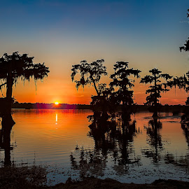 Sunset at Lake Martin by Outh Mano - Landscapes Sunsets & Sunrises