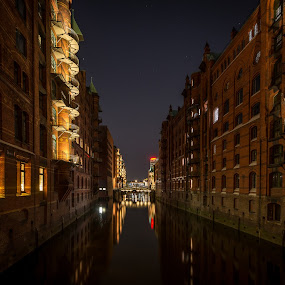 Speicherstadt Hamburg, Germany by Horizon Photo - City,  Street & Park  Historic Districts ( speicherstadt hamburg, germany )