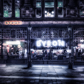 Byron by Adam Lang - City,  Street & Park  Street Scenes ( building, byron, street, colour splash, burger joint )