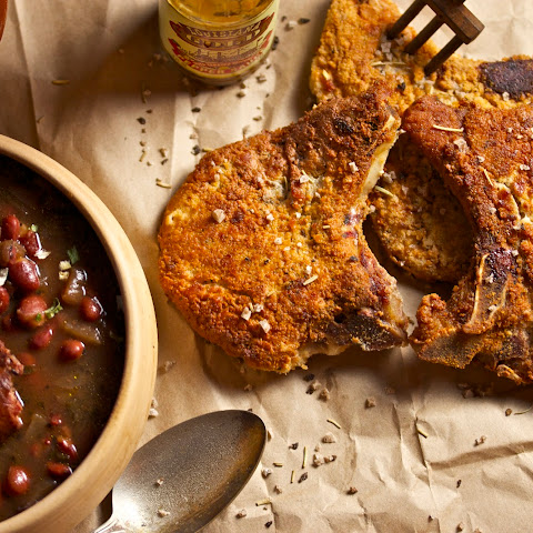 Creole Red Beans with Fried Pork Chops