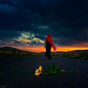 SUN WALK  by Gregory Dallis - People Fine Art ( dallis )