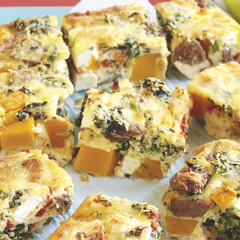 Lamb, Feta and Winter Squash Frittata