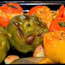 Greek style Stuffed Vegetables (Yemista)