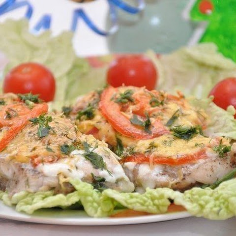 Fish With Cheese And Tomatoes