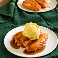 Heavenly Banana Fritters with Caramel Cream Syrup
