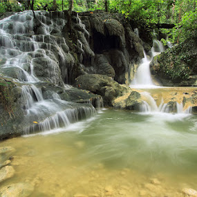 Batu Tikar by Jimmy Papia - Nature Up Close Water ( waterscape, waterfall, stone, flow, luwuk )