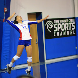 Serve by JASON ROBEY - Sports & Fitness Other Sports ( sports volleyball college athlete fit )