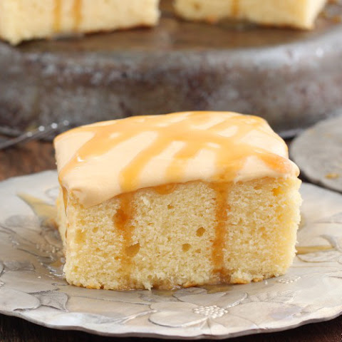 Caramel Yogurt Cake With Caramel Frosting