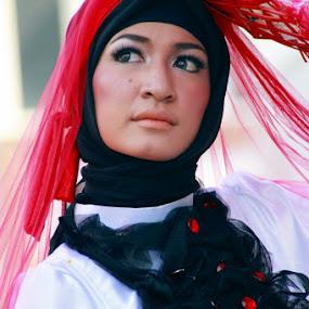 Ladies in Hijab by Adi Mumun'k - People Portraits of Women ( face, ladies, model, beauty, hijab, pwc faces, women, people )
