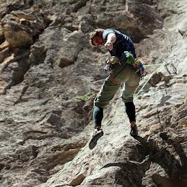 David by Tony Bendele - Sports & Fitness Climbing ( rock climbing, adventure, people )