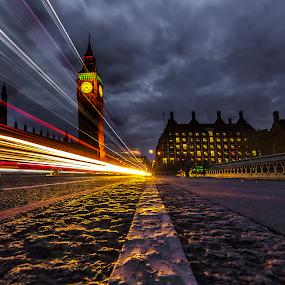 Lighttrails by Manu Heiskanen - Uncategorized All Uncategorized ( clouds, uk, london, lines, cityscape, cloudporn, trails, light, bigben, paulinawolekpardon, city,  )