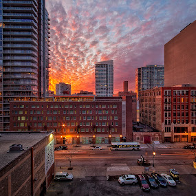 WOW!!! by Jamie Link - City,  Street & Park  Vistas ( skyline, link, framed, jamie, lakes, photography, buildings, weather, pier, pink, chicago, prints, cook, jamie link photography, gallery, national, art, midwest, lake, concrete, michigan, great, cities, sunset, sunrise, navy, odessy )