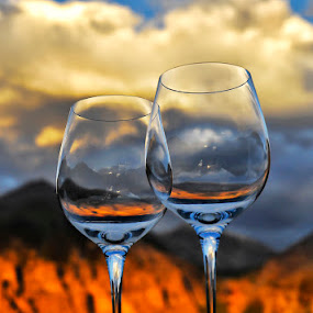 Wine Glasses in the San Juan Mountains by Melanie Metz - Artistic Objects Glass ( wine, san juans, mountains, nature, glass, colorado, telluride )