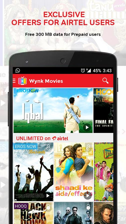 Wynk Movies Screenshot 1