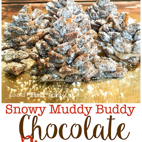 "Chocolate ""Muddy Buddy"" Snowy Pinecones"