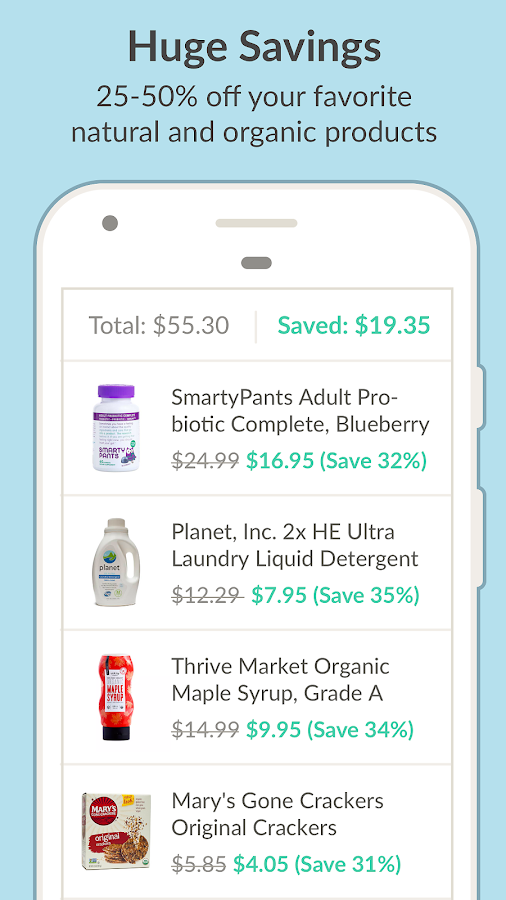 Thrive Market - Healthy Food Screenshot