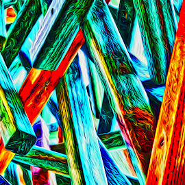 Wooden Sculpture by Allen Crenshaw - Digital Art Things ( sculpture, wooden, color, digital art, art, photography by allen crenshaw, design, photography )