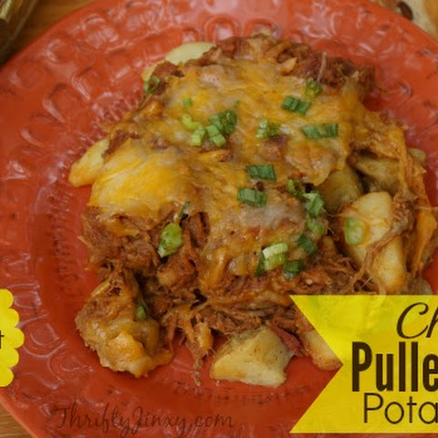 Cheesy Pulled Pork Potato Stack