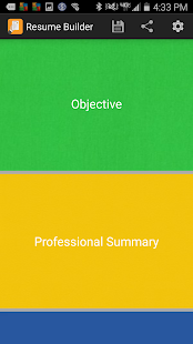 free resume builder app screenshot for android