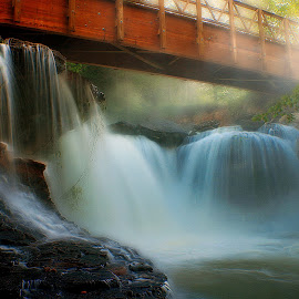 by Dana Johnson - Landscapes Waterscapes ( waterscape, cascade, creek, falls, waterfall, bridge, landscape )