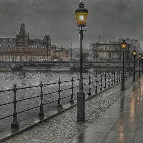 Stockholm in december by Dan Westtorp - City,  Street & Park  Street Scenes