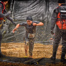 Strong But Smiling by Marco Bertamé - Sports & Fitness Other Sports ( water, splash, splatter, helper, 2110, number, running, red, strong, three, brown, strongmanrun, man )