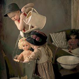 Team work.. by Pirjo-Leena Bauer - Babies & Children Children Candids