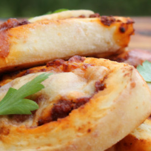 Beef, Chutney And Cheese Scrolls