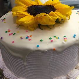 Flower Topped Cake! by Lope Piamonte Jr - Food & Drink Candy & Dessert