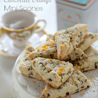 Gluten Free Mini Chocolate Orange Scones