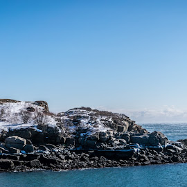 Nubble in snow by Ryan Richmond - Landscapes Travel ( water, winter, maine, lighthouse, travel, landscape, island )
