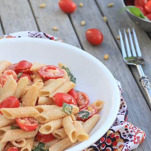 Pasta Salad with Tomatoes, Basil, & Fresh Ricotta