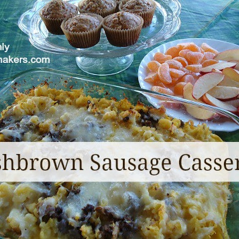 Hashbrown Sausage Casserole {Christmas Brunch}