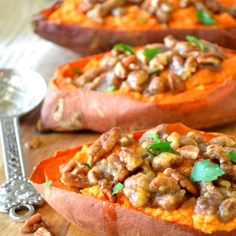 Twice-Baked Sweet Potatoes with Pecan Streusel