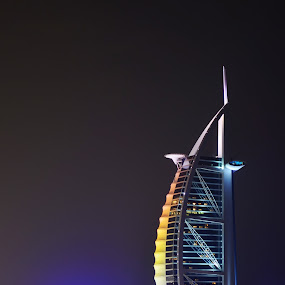 burj al arab by Parasu Raman - Buildings & Architecture Other Exteriors ( night view, exteriors, dubai, burj al arab, 7star hotel )