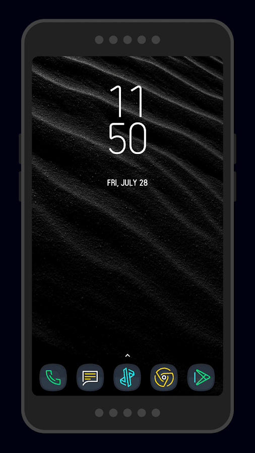 Nightmare Squircle ~ Dark S8/Note8 Icon Pack Screenshot 6