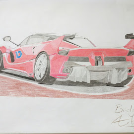 Ferrari FXX  by Reagan Muriuki - Drawing All Drawing