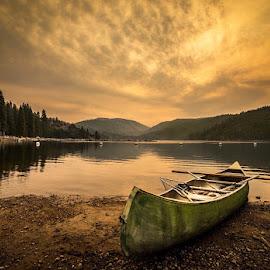 Sunrise at Pinecrest Lake  by Melissa Masinter - Landscapes Sunsets & Sunrises ( pinecrest lake )