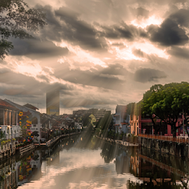 Malacca by Sam Song - City,  Street & Park  Neighborhoods ( jonker, melaka, malaysia, sunrise )