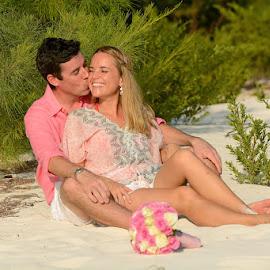 Beach and Bush by Andrew Morgan - Wedding Bride & Groom ( kiss, wedding, beach, paradise, island, mnemba )