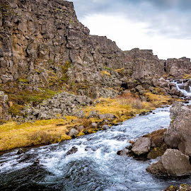 Thingvellir National Park by Hayley Goerisch - Landscapes Waterscapes ( tectonic plates, national park, iceland, waterfall, landscape, river )