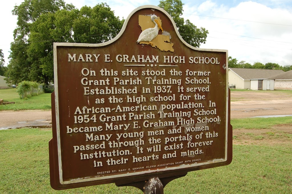 On this site stood the former Grant Parish Training School. Established in 1937, it served as the high school for the African-American population. In 1954 Grant Parish Training School became Mary E. ...