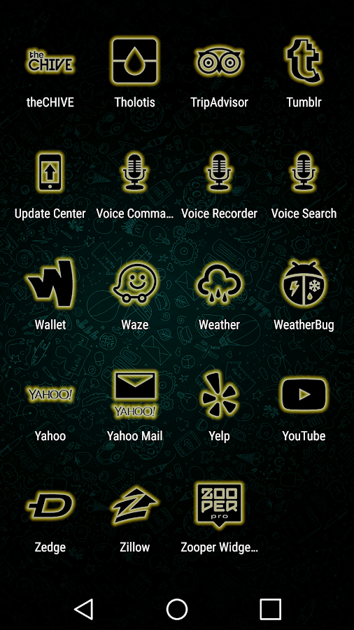 Glowist Yellowish - Icon Pack Screenshot 6