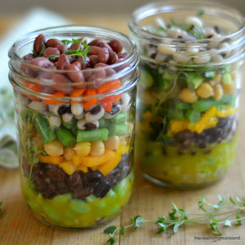 Layered 7-Bean Salad in a Jar