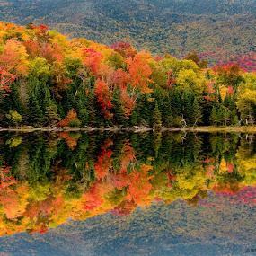Mirror Lake  by Dan Girard - Landscapes Mountains & Hills ( #mirror, #lake, #nature, #colors, #dangirardphotography, #fall )